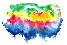 Éclaboussure multicolore abstraite de couleur d'eau illustration libre de droits