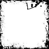 Éclaboussure noire et blanche d'encre Image libre de droits