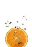 Éclaboussure orange Image stock