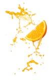 Éclaboussure orange Photos stock