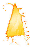 Éclaboussure orange de l'eau d'isolement photo stock