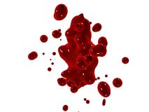 Éclaboussure rouge Photographie stock libre de droits