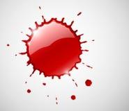 Éclaboussure rouge de goutte d'encre illustration stock