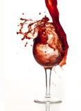 Éclaboussure rouge de vigne Photos libres de droits