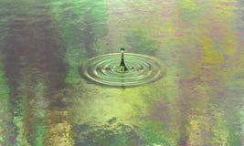 Éclaboussure simple de l'eau pure avec des ondulations illustration stock