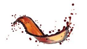 Éclaboussure sinueuse de café sur le fond blanc illustration libre de droits