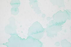 Éclaboussure vert clair d'aquarelle Photo libre de droits