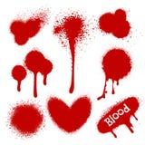 Éclaboussures de sang sur le blanc illustration stock