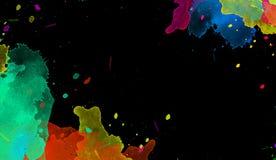 Éclaboussures multiples de baisse de peinture d'aquarelle sur le fond solated illustration stock