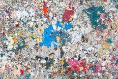 Éclaboussures sèches colorées de peinture Photographie stock
