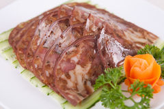 Éclaille de viande image stock