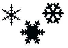 Éclailles de neige Photos libres de droits