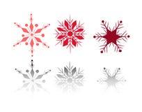Éclailles de neige de l'hiver Photos stock