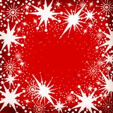 Éclailles de neige de Noël Photo stock