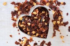 Éclailles de poivron rouge Image stock