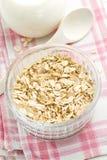 Éclailles et lait d'avoine image stock
