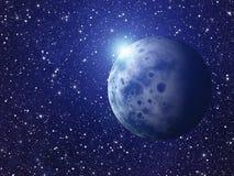 Éclair blanc de planète de l'espace milieux de ciel de cosmos Image libre de droits