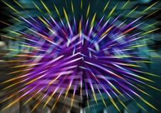 Éclair coloré de vacances, explosion cosmique, feux d'artifice illustration stock