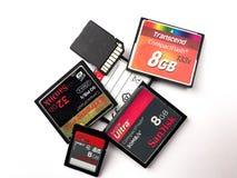 Éclair compact et cartes de mémoire d'écart-type Photographie stock libre de droits