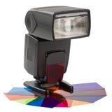Éclair moderne avec des filtres de couleur photos stock
