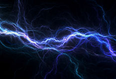 Éclairage électrique bleu Photo libre de droits