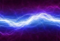 Éclairage électrique bleu et pourpre Photographie stock