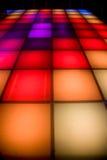 éclairage coloré d'étage de disco de danse Photographie stock libre de droits
