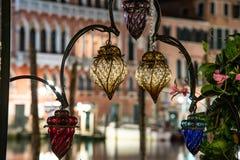 Éclairage décoratif en verre antiqued images libres de droits