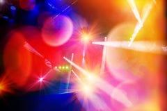 Éclairage d'étape de concert et effets de la lumière images libres de droits