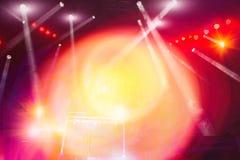 Éclairage d'étape de concert et effets de la lumière photographie stock