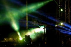 Éclairage de concert de divertissement sur l'étape Images libres de droits