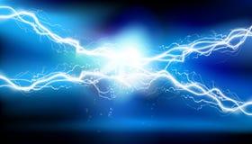 Éclairage de la chaleur Énergie électrique Illustration de vecteur Photographie stock libre de droits