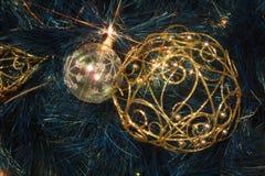 Éclairage de Noël Photo libre de droits