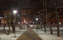 Éclairage de soirée en parc Photographie stock