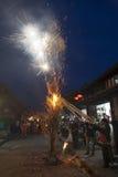 Éclairage de torche de festival de torche Photos stock