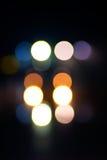 Éclairage Defocused de nuit Photos libres de droits