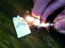 Éclairage du feu images stock