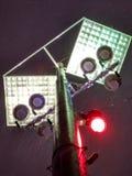 Éclairage extérieur de nuit Photos libres de droits