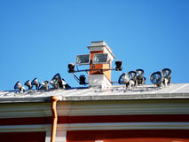 Éclairage externe sur le toit Images stock
