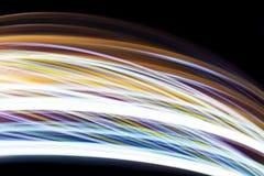 Éclairage mobile sur le fond noir Photographie stock