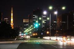 Éclairage routier de Tokyo Images libres de droits