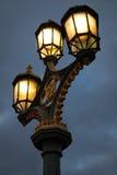 Éclairage routier victorien photographie stock