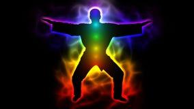 Éclaircissement de l'esprit - maître dans le kimono (taichi, kungfu, judo, karaté, le Taekwondo) illustration libre de droits