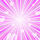 Éclat abstrait Ray Background Pink de coeur d'amour Photos libres de droits