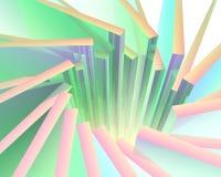 Éclat coloré abstrait du soleil Image libre de droits