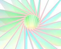 Éclat coloré abstrait du soleil Images libres de droits