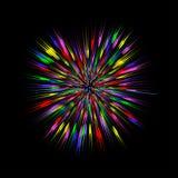 Éclat coloré, explosion abstraite Effet de graphique de souffle de couleur Vecteur Images libres de droits
