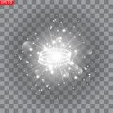 Éclat d'étoile avec des étincelles illustration libre de droits