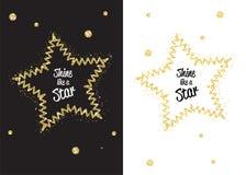 Éclat d'or de miroitement comme l'étoile Photo libre de droits
