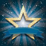 Éclat de bleu d'étoile de Dimond Image stock